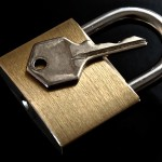 photo of a padlock
