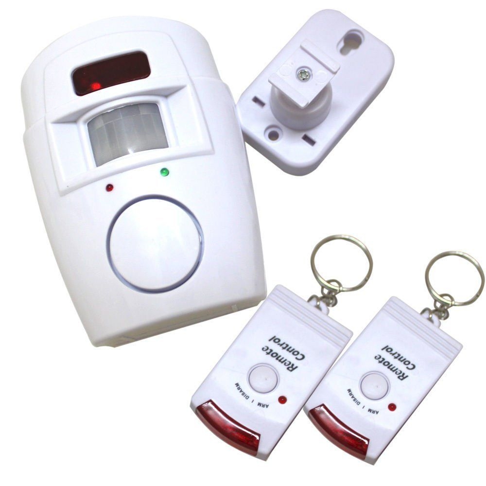 Motion Sensor Alarm with 2 Remote Control Keys