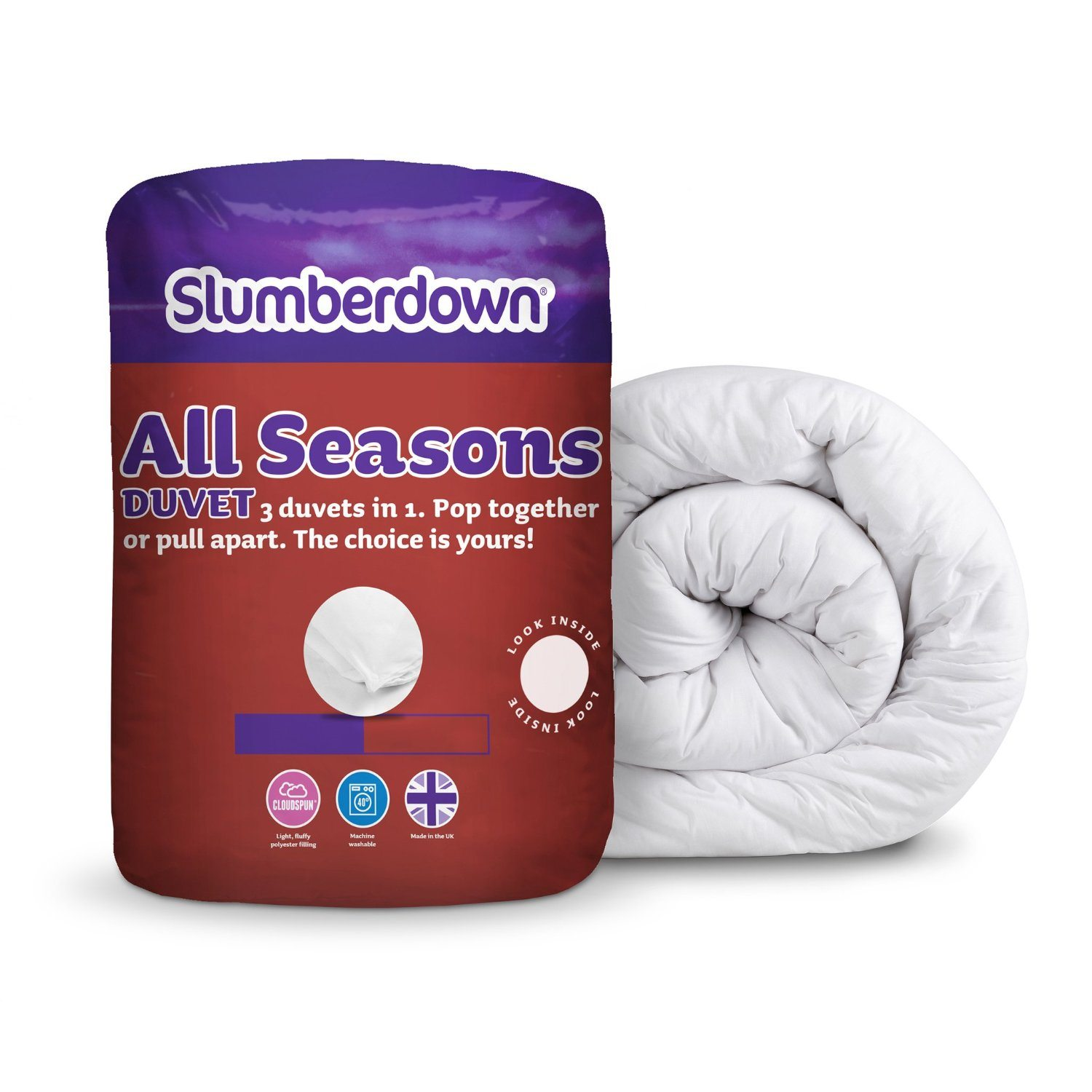 Slumberdown All Seasons 15 Tog Combi Duvet- King Size Bed