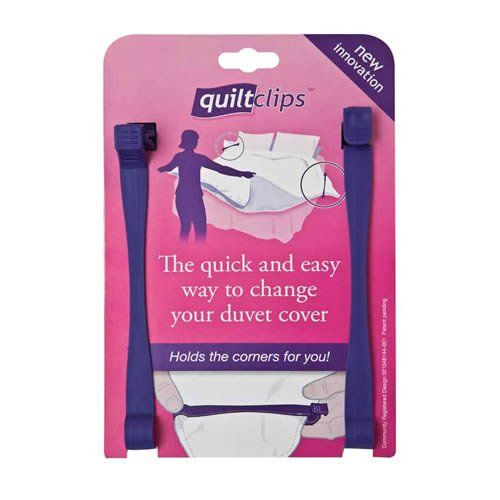 The Quilt Clip for changing duvet cover