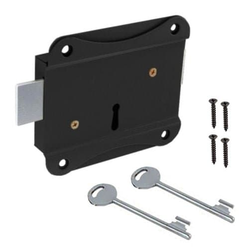 rim press lock for shed security