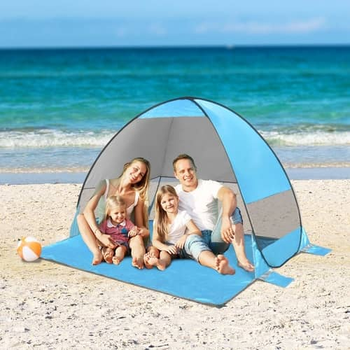 SLB Pop up Beach Tent  Automatic Sun Shelter with Water